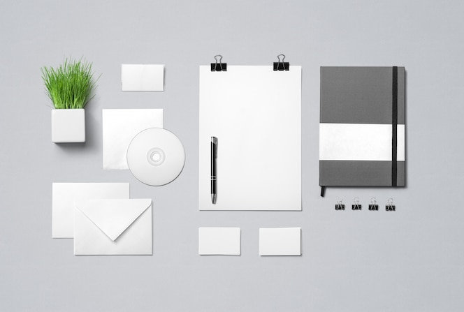 Mock up de papelería corporativa
