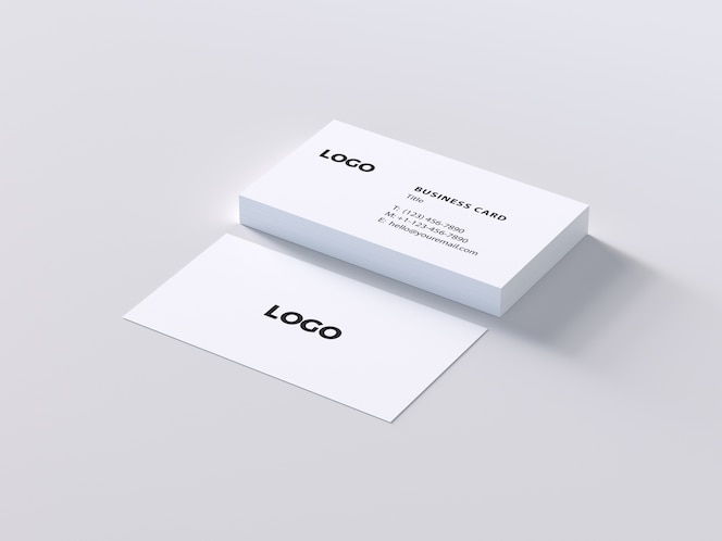 Mock up de tarjeta de negocios blanca