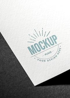 Mock-up del biglietto da visita del primo piano di alta vista