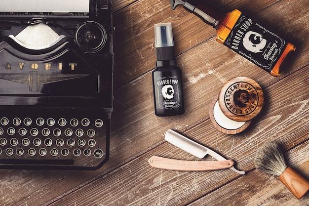 Mock-up del negozio di barbiere