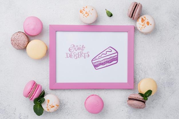 Mock-up delizioso concetto di dessert