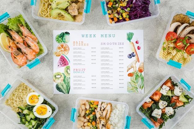 Mock-up delizioso concetto di menu