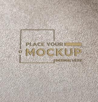 Mock-up della carta dell'azienda del primo piano