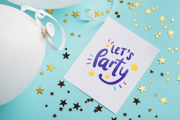 Mock-up di carta invito festa