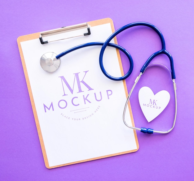 Mock-up di concetto di bel cuore