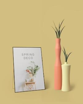 Mock-up di concetto di decorazione di primavera