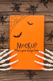 Mock-up di concetto di halloween spettrale