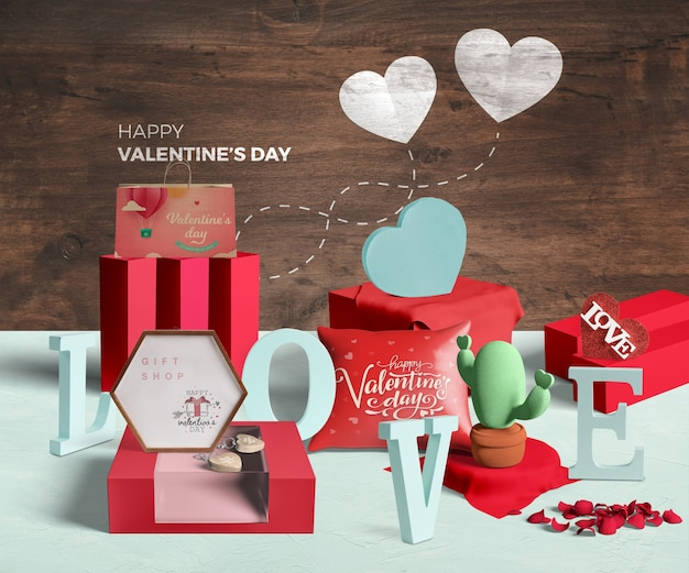 Mock-up di concetto di san valentino