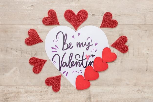 Mock-up di concetto di san valentino