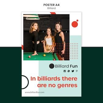 Mock-up di poster di concetto di biliardo