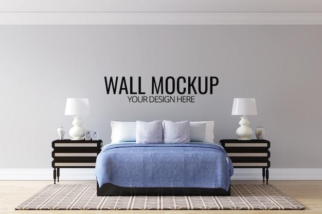 Mock up di sfondo camera da letto interni