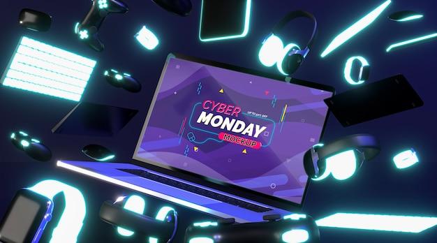 Mock-up di vendita del cyber lunedì
