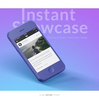 Mock up con diseño de smartphone PSD gratuito