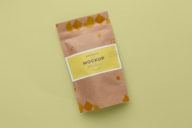 Mock-up doypack minimalistische opstelling