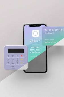 Mock-up e-betaling met smartphone en betaalterminal