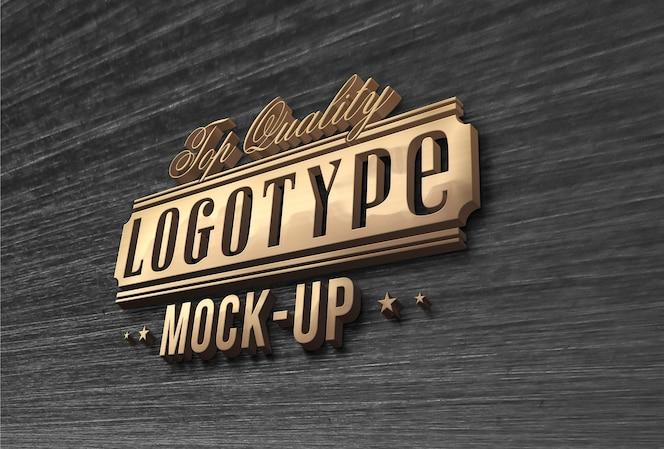 Mock up elegante de logo