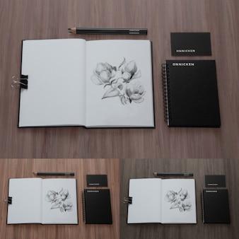 Mock up de elementos para dibujar