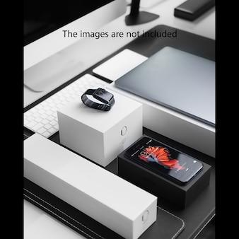 Mock up de elementos tecnológicos