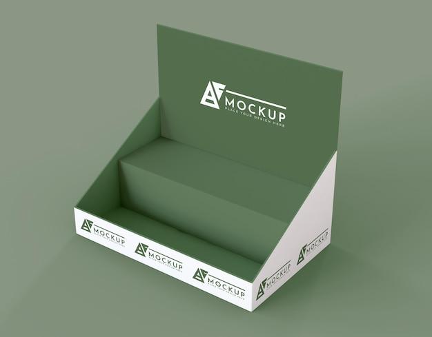 Mock-up espositore verde minimalista