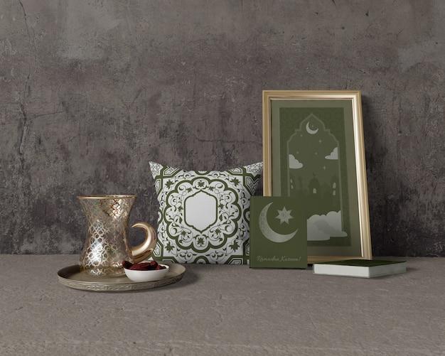 Mock-up festivo composizione ramadan