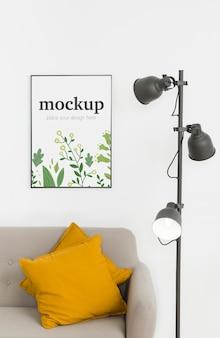 Mock-up frame boven bank