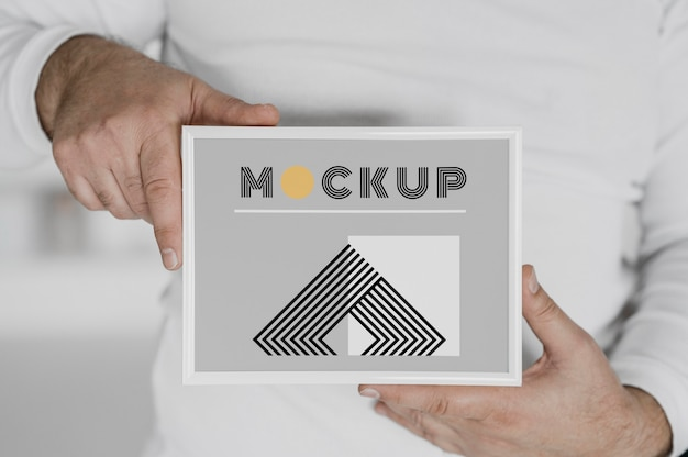Mock up frame close-up