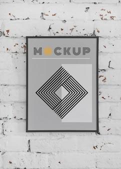 Mock-up frame op de muur