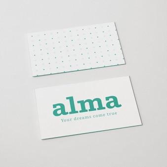 Mock up de frente y dorso de tarjeta de visita