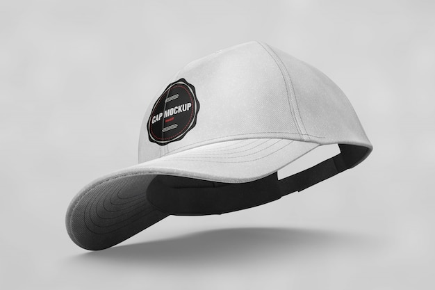 Mock up de gorra vista superior