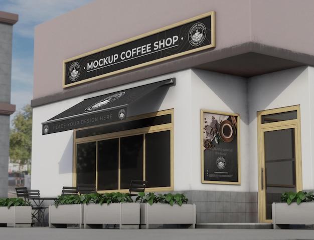 Mock-up hoek voor winkel buitenshuis
