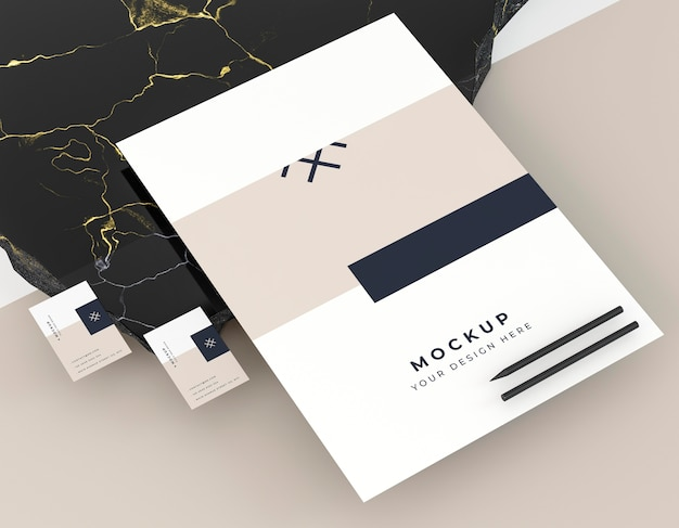 Mock-up identiteit voor visitekaartjes voor bedrijf