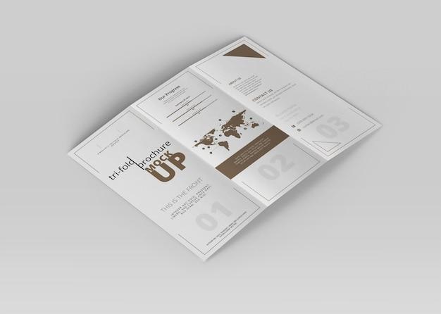 Mock-up in gevouwen brochure