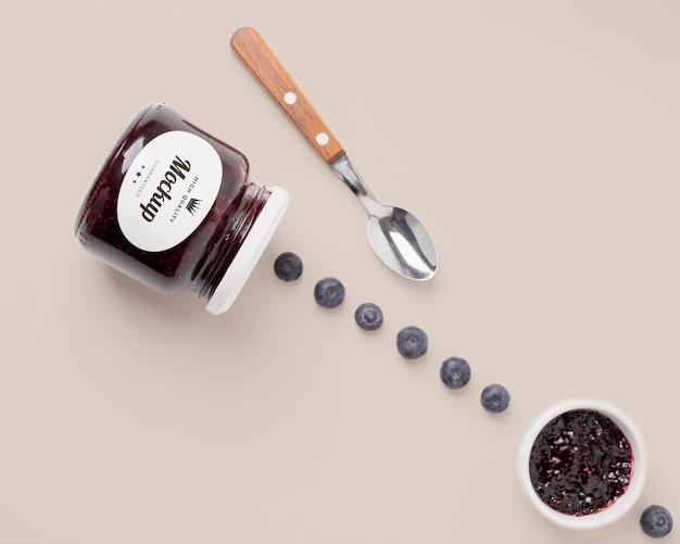 Mock-up jampot verpakking arrangement