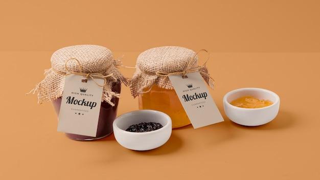 Mock-up jampot verpakking assortiment