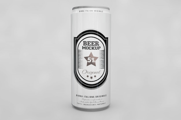 Mock up de lata de cerveza