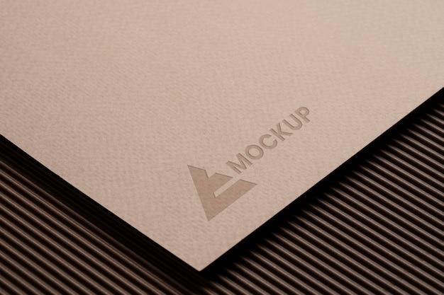 Mock-up logo-ontwerp voor zakelijke bedrijven