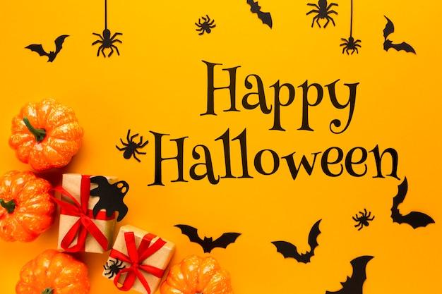 Mock-up met decoratieve creatie voor halloween
