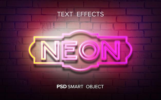 Mock-up met neonteksteffect
