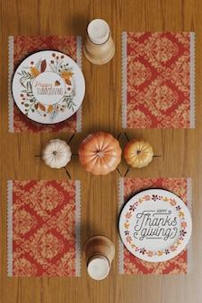 Mock-up met thanksgiving day-ontwerp