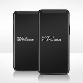 Mock up modello di interfaccia del telefono cellulare