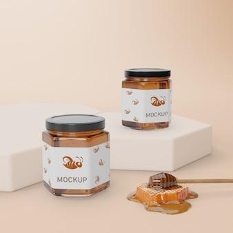Mock-up natuurlijk honingproduct