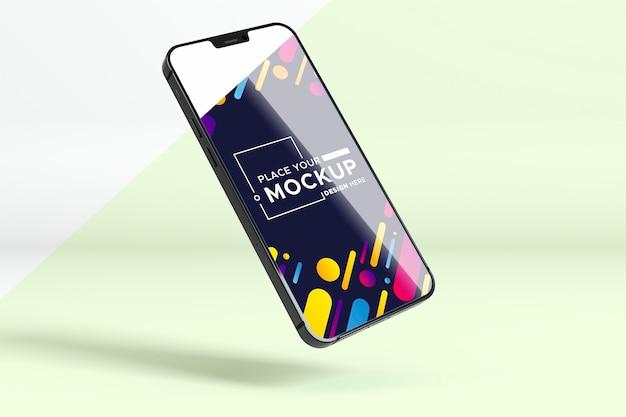 Mock-up nieuwe telefoonshowcase