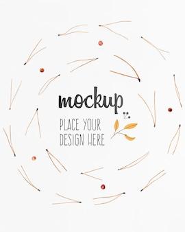 Mock-up ontwerp met takjes