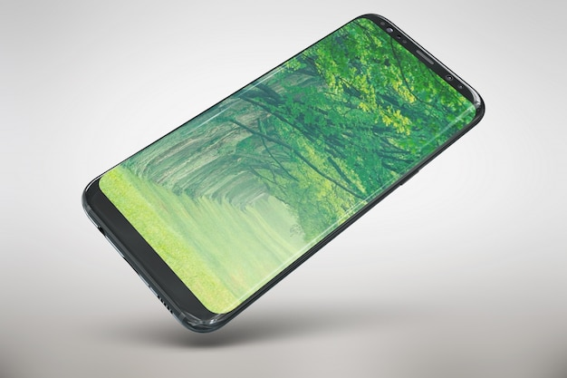 Mock up de pantalla grande de smartphone
