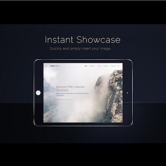 Mock up de pantalla de ipad