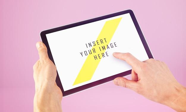 Mock up de pantalla de tableta