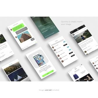 Mock up de pantallas de smartphone