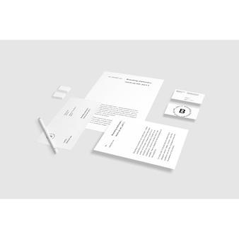 Mock up de papelería de negocios
