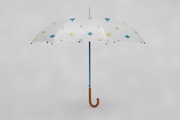 Mock up de paraguas multicolor