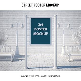 Mock up de póster callejero